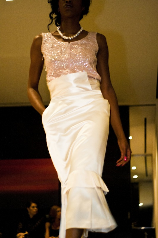 Stokes Thompson dress at an LA Fashion Parade in 2011