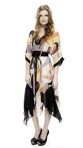 Image of silk resort style kaftan from exclusive designer range by Stokes Thompson